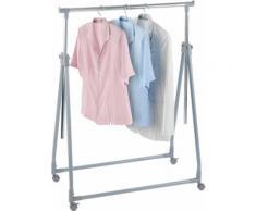 WENKO Kleiderständer klappbar silber