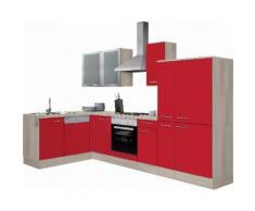 OPTIFIT Winkelküche mit E-Geräten rot, ohne Aufbauservice, »Kalmar«
