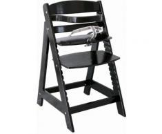 ROBA Hochstuhl aus Holz schwarz, »Treppenhochstuhl Sit up III, schwarz«