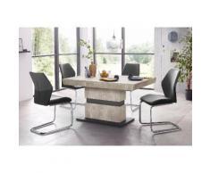 Essgruppe schwarz, Tisch-Breite 140cm, »Snap04 und Marley«, pflegeleichtes Kunstleder, FSC®-zertifiziert, STEINHOFF