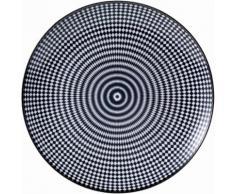 Speiseteller schwarz, »Black Circle«, spülmaschinengeeignet, VAN WELL