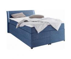 Boxspringbett mit Bettkasten und LED-Beleuchtung blau, 140x200cm, Härtegrad 2, Breckle