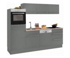 OPTIFIT Winkelküche ohne E-Geräte »Bern« grau, pflegeleichte Oberfläche, mit Schubkästen