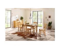 Home affaire Essgruppe beige, 110/68cm & 4er-Pack Stühle, »Merida«, FSC®-zertifiziert