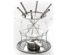 Fondue-Set silber, Ø 14,5cm, »SWISS FONDUE«, spülmaschinengeeignet, STYLE'N COOK