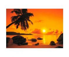 Home affaire Fototapete braun, 368/254cm, »Sunset«