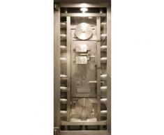 Fototapete silber, »Türtapete 2.0 Motiv Safe«, FSC®-zertifiziert, living walls