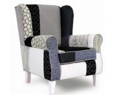 INOSIGN Patchwork- Sessel grau, », mit Zierkissen«, FSC®-zertifiziert