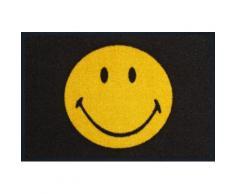 Fußmatte »Smiley« gelb, L/B: 75/50cm, 7mm, fußbodenheizungsgeeignet, strapazierfähig, WASH+DRY BY KLEEN-TEX