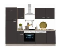 OPTIFIT Küchenzeile grau, mit Aufbauservice, »Faro«