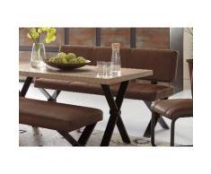 Sitzbank mit Rücken braun, braun-vintage, pflegeleichtes Kunstleder, STEINHOFF