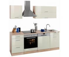 Küchenzeile beige, mit Aufbauservice, »Graz«, pflegeleichte Oberfläche, Held Möbel