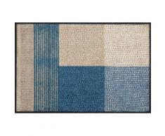 Fußmatte blau, L/B: 75/50cm, 7mm, »Lanas«, fußbodenheizungsgeeignet, strapazierfähig, WASH+DRY BY KLEEN-TEX