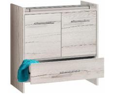 Schildmeyer Waschbeckenunterschrank beige, »Jolly«, pflegeleichte Oberfläche