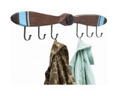 Garderobenleiste Propeller braun, B/T/H, KARE Design