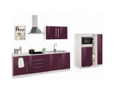 Küchenzeile »Samos« lila, mit Schubkästen, Held Möbel
