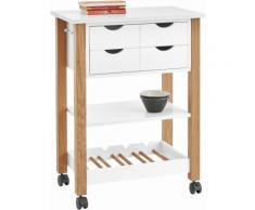 Home affaire Küchenwagen mit 2 Schubladen weiß, FSC®-zertifiziert