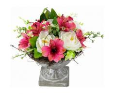 Kunstpflanze rosa, B/T/H, »Gesteck Ranunkel in Pokal«, yourhome