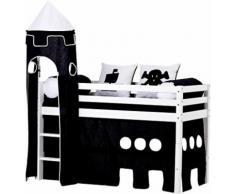 Hoppekids Halbhohes Bett »Pirat« schwarz, Liegefläche 90/200cm, FSC®-zertifiziert