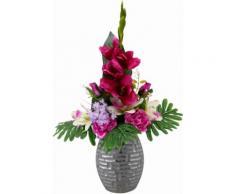 Kunstpflanze rosa, B/T/H, »Arrangement Gladiole / Rosen in Vase«, yourhome