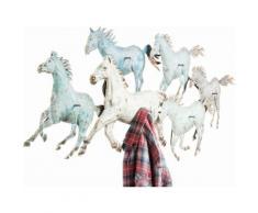 Garderobenleiste Horses Colore bunt, B/T/H, KARE Design