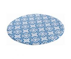 MY HOME SELECTION Badematte blau, Rund 80cm, 14mm, »Kacheln«