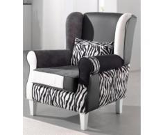 INOSIGN Patchwork- Sessel », mit Zierkissen in Zebra-Look« grau, FSC®-zertifiziert
