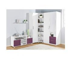 Jugendzimmer-Set lila, mit 2-trg. Kleiderschrank, yourhome