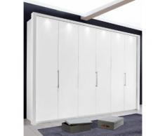 Panorama-Falttürenschrank in 3 Breiten »Loft« weiß, Breite 300cm, mit Schubkästen, WIEMANN