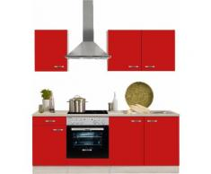 OPTIFIT Küchenzeile »Faro« rot