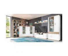 Wohnwand weiß, »Arena«, pflegeleichte Oberfläche, Hochglanz, FSC®-zertifiziert, yourhome