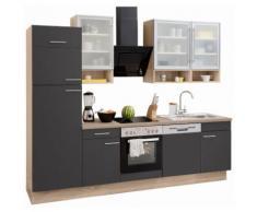 OPTIFIT Küchenzeile »Aue« grau, mit Aufbauservice, mit Schubkästen