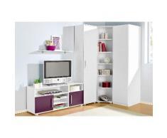 Jugendzimmer-Set lila, mit 1-trg. Kleiderschrank, yourhome
