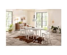 Home affaire Essgruppe weiß, 160-199/80cm & 4er-Pack Stühle, »Sevilia«, FSC®-zertifiziert