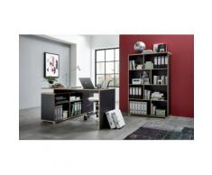 Büromöbel-Set grau, »4081 + 4082«, pflegeleichte Oberfläche, GERMANIA
