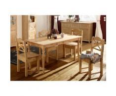 Home affaire Essgruppe »Vanda« beige, Tisch 120cm breit + 4 Stühle, FSC®-zertifiziert