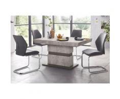 Essgruppe weiß, Tisch-Breite 140cm, »Snap04 und Marley«, pflegeleichtes Kunstleder, FSC®-zertifiziert, STEINHOFF