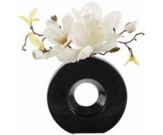 Home affaire Kunstpflanze beige, »Magnolie in schwarzer Vase«