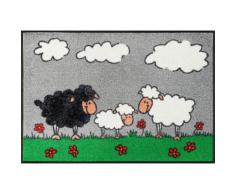 Fußmatte grau, L/B: 75/50cm, 7mm, »Sheep Family«, WASH+DRY BY KLEEN-TEX