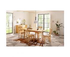 Home affaire Essgruppe beige, 160-199/80cm & 4er-Pack Stühle, »Sevilia«, FSC®-zertifiziert