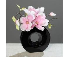 Home affaire Kunstpflanze rosa, »Magnolie in schwarzer Vase«