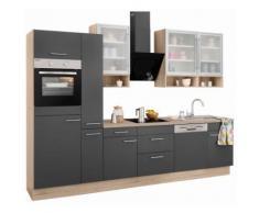 OPTIFIT Küchenzeile »Aue« grau, mit Schubkästen