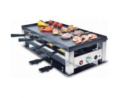 Solis of Switzerland Grill SOLIS 5 in 1: Raclette silber, SOLIS OF SWITZERLAND