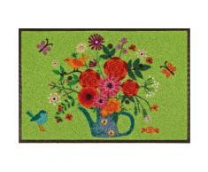 Fußmatte »Bouquet of Flowers« bunt, L/B: 75/50cm, 7mm, fußbodenheizungsgeeignet, strapazierfähig, WASH+DRY BY KLEEN-TEX
