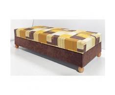 Polsterliege braun, auf Holzlattenrahmen, H/B: 80/190cm, Breckle