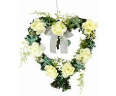 Kunstpflanze »Herz Rosen 25/26 cm« weiß, yourhome