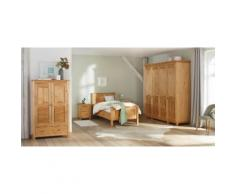 Home affaire Nachttisch aus massiver Kiefer beige, »Rauna«, mit Schubkästen, FSC®-zertifiziert