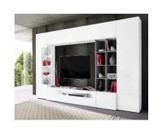 TECNOS Wohnwand weiß, Hochglanz, FSC®-zertifiziert