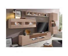 Wohnwand »Toledo« braun, Hochglanz-Fronten, FSC®-zertifiziert, yourhome