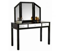 GMK Home & Living Schminktisch mit verspiegelten Schubladen schwarz, (B/TH): 120/50/143,5 cm, Hochglanz, GUIDO MARIA KRETSCHMER HOME & LIVING